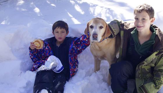 A los niños les gusta la nieve