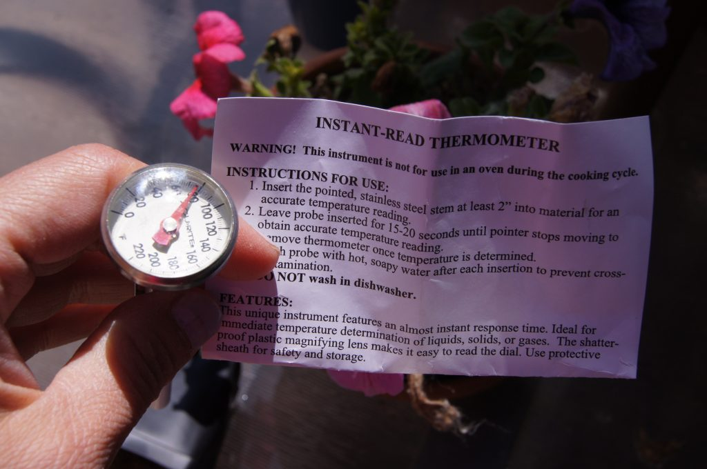 Use a food thermometer