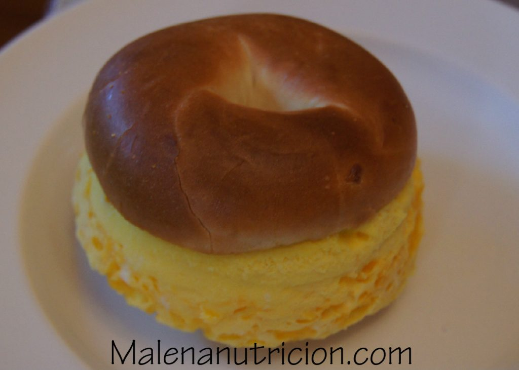 Egg mini bagel takes less than five minutes