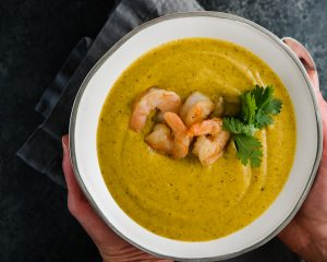 Butternut squash soup with quinoa