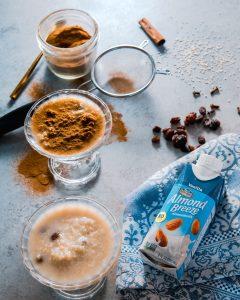 Quinoa pudding with almond milk
