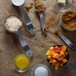 Duraznos horneados con avena ingredientes