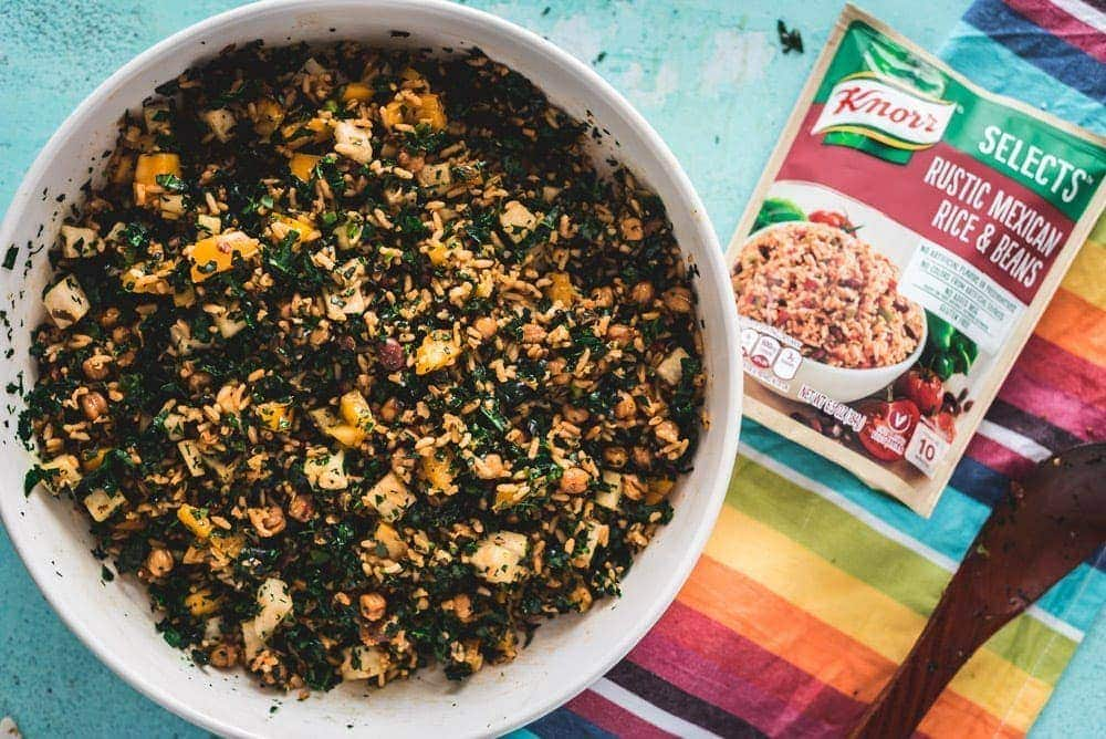 Ensalada de Knorr arroz con frijoles