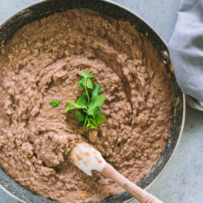 Refried beans the healthy way