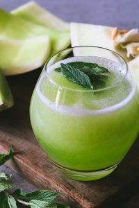 Honeydew melon juice, Jugo de melón verde