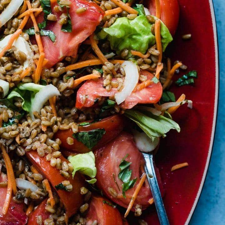Farro Salad with Tomatoes - Malena