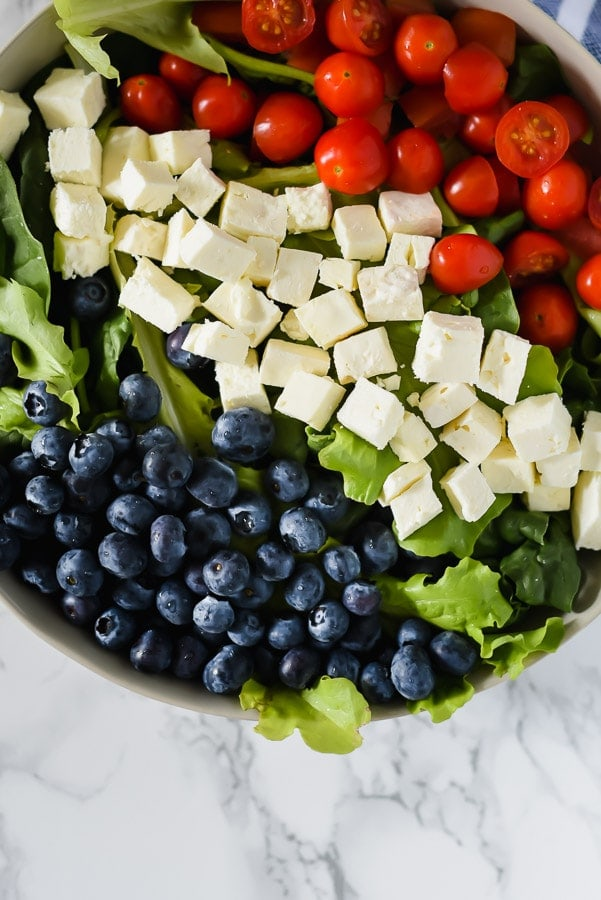 Four ingredient salad for the fourth of July