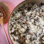 Simple coconut rice with guandules