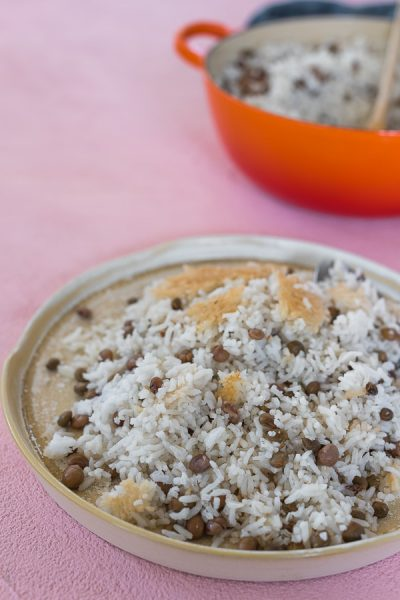 Coconut Rice with Guandules and concolón. | Arroz con coco y guandules con concolón. | Malenanutricion.com
