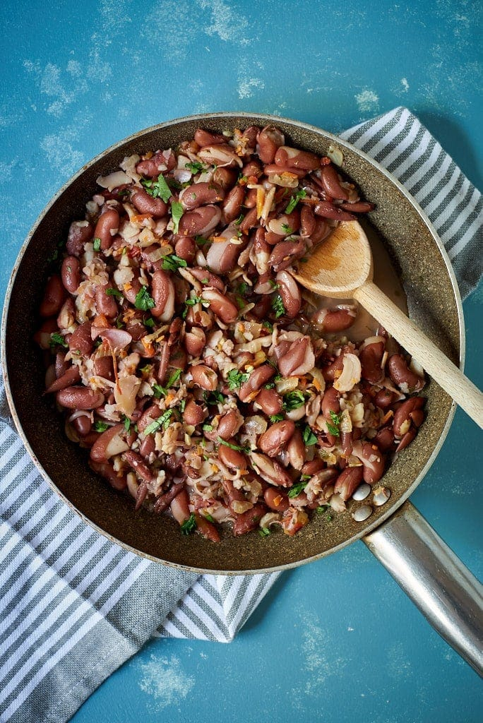 Red Kidney Beans Or Sprouted Beans With Sofrito Vegetarian Malena Nutricion