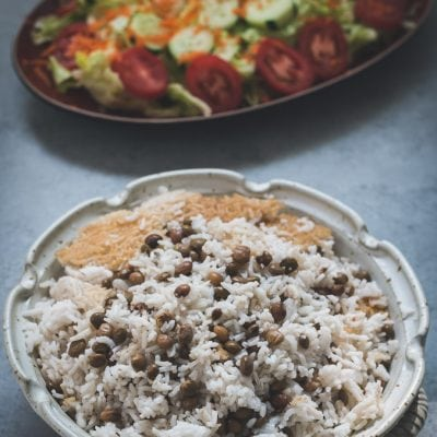 rice with pigeon peas (vegetarian)