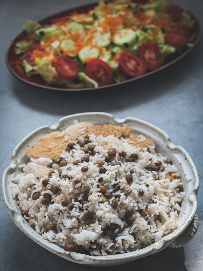 Rice with pigeon peas.