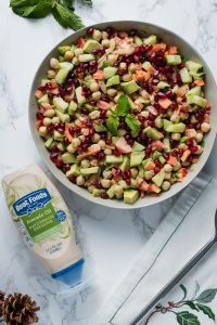 Chickpea Salad with Green Salad Dressing