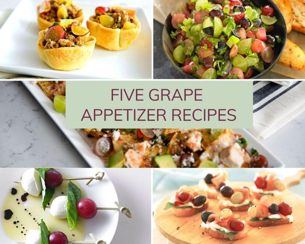 Five Grape Appetizer Recipes
