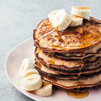 Green banana flour pancakes {gluten-free}